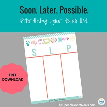Soon Later Possible: Prioritizing Your To-Do list.