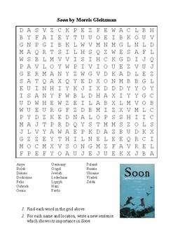 Soon by Morris Gleitzman - Word Search