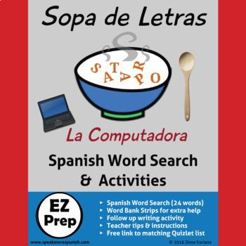 Sopa de Letras * La Computadora y la Tecnología * Spanish Word Search