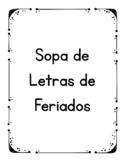 Sopa de Letras de Feriados em Portugues (Portuguese Word Search for Holidays)