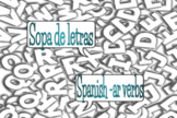 Sopa de letras Spanish Ar Verbs Google Slides Distance Learning Word Search