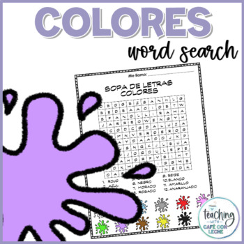 Sopa de letras de colores (Colors word search)