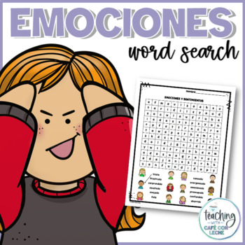 Sopa de letras de emociones (Emotions Word Search)