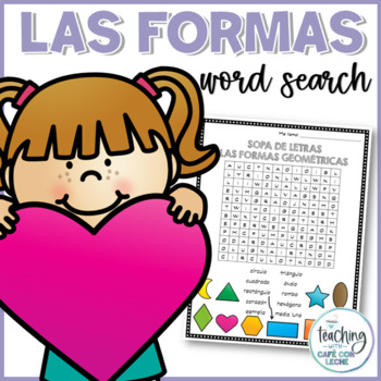Sopa de letras de las formas (Shapes word search)