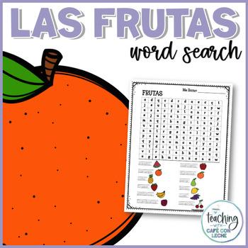 Sopa de letras de las frutas (Fruits Spanish Word Search)