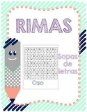 Centro de sopa de letras de rimas en español. Spanish Word Search