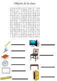 Sopa de letras objetos de la clase/ Word search objects of the classrooom