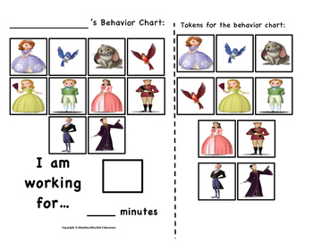 Sofia The First Token Behavior Chart!
