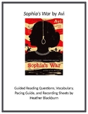 Sophia's War Guided Reading Packet