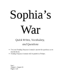 Sophia's War Reading Comprehension Packet