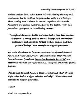 Sophia's War Lesson Plans/Assessment/Writing - Part 3