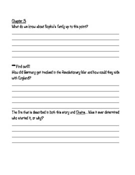 Sophia's War Novel Study