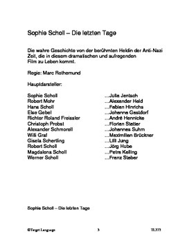 Sophie Scholl-German StudyGuide