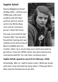 Sophie Scholl Handout