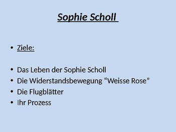 Sophie Scholl / White Rose / Resistance to the Nazis / Second World War
