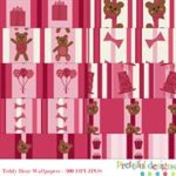 Sophie Teddie Bear Wallpaper Paper Pack