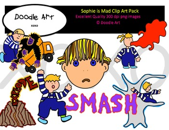 Sophie is Mad Clipart Pack