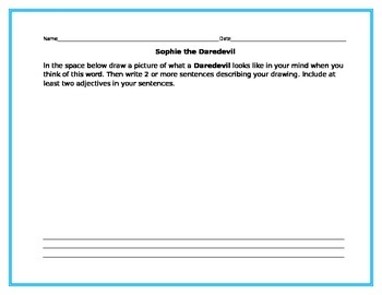 Sophie the Daredevil Guided Reading packet