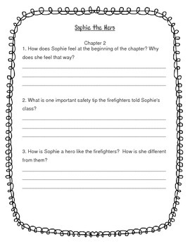 Sophie the Hero Comprehension Questions By Chapter