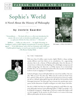 Sophie's World by Jostein Gaarder Teacher's Guide