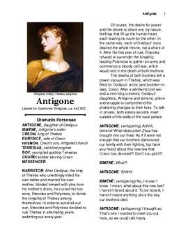 Sophocles' Antigone Readers Theater