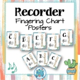 Soprano Recorder Fingering Chart Posters - Ginger & Waves