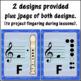 Soprano Recorder Fingering Charts Music Room Decor (blue score)