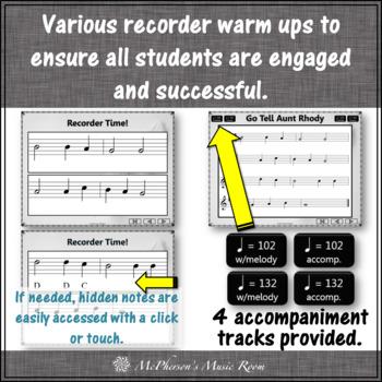 Soprano Recorder - Go Tell Aunt Rhody (Notes GABCD)