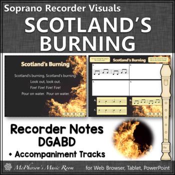 Soprano Recorder - Scotland's Burning (Notes DGABD)