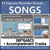 Soprano Recorder Songs ~ Interactive Visuals {Notes DEF#GA