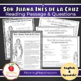 Sor Juana Inés de la Cruz 1-Page Reading Passage & Comp Questions
