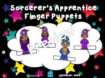 Sorcerer's Apprentice Finger Puppets (for listening activity)