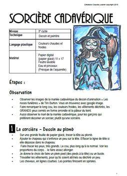 Halloween: Arts plastiques: Sorcière cadavérique, Automne, en Français