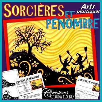 Halloween: Arts plastiques: Sorcières et pénombre, automne, en français
