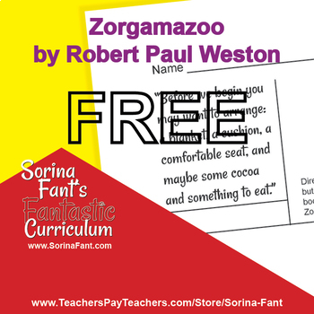Sorina Fant's Fantastic Curriculum - Zoragamazoo Chapter 1 Study Guide