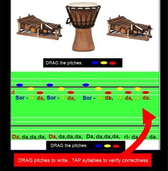 Sorrida~ Traditional African Song~ do-mi-so~ Instruments~ SMARTboard