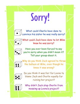 Sorry! A game to accompany Trudy Ludwig's book