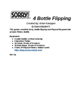 Sorry For Bottle Flipping - Fitness Game
