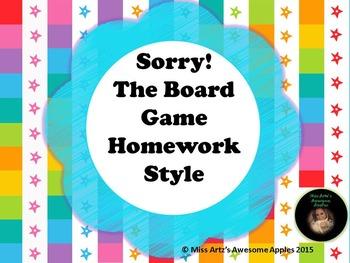 Homework Game - Sorry Style!
