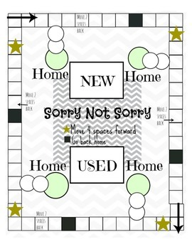 """Sorry Not Sorry"" Game Board"