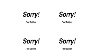 Sorry! Review Game