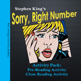 Sorry, Right Number PreReading & Close Reading Activity, Stephen King