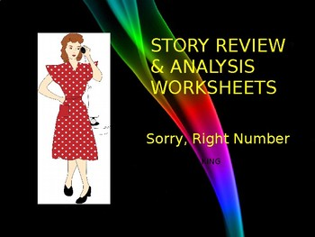 Sorry, Right Number by Stephen King - Printable Worksheets