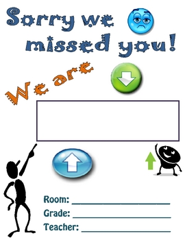 Sorry We Missed You! Classroom Door Sign