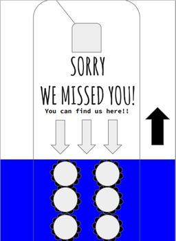 Sorry We Missed You Door Tag