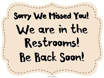 Sorry We Missed You Out of the Classroom Signs for Back to School
