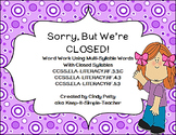 Sorry, We're Closed!   Decoding Closed Multi-Syllable Words