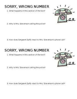 Sorry, Wrong Number Quiz