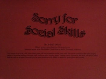 Sorry for Social Skills