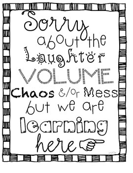 Sorry we are learning poster